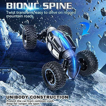 Cool Chargable Double-Sided Stunt Car Toy Wireless Remote Control for Kid Children Christmas Gift