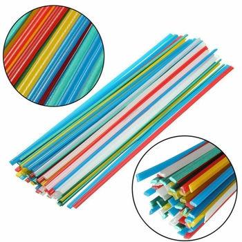 50pcs Plastic Welding Rods 25cm Welder Sticks 5 Color Blue/White/Yellow/Red/Green