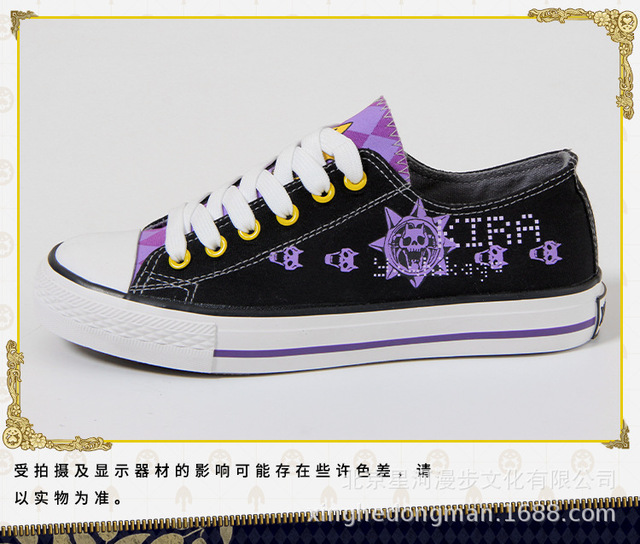 JOJO's Bizarre Adventure Golden Wind cos canvas fashion shoes casual men and women college anime cartoon students low help 2