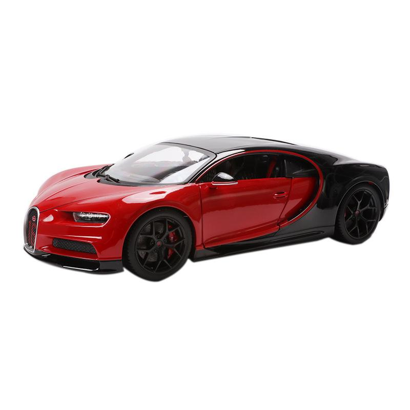 <font><b>1:18</b></font> Chiron Super Sport Diecast Model Cars Static Simulation Alloy Metal Car Miniatures <font><b>Voiture</b></font> Mini Car Collection Toys image
