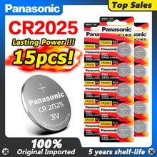 PANASONIC – pile bouton 3v, 15 pièces, pour jouets, télécommande, originale, cr2025, ECR2025, br325, dl2022, KCR2025, lm2022