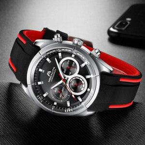 Image 2 - MEGALITH 2019 nowości zegarki dla mężczyzn Top marka luksusowe Casual Sport wodoodporny zegarek człowiek zegar chronograf wojskowy zegarki