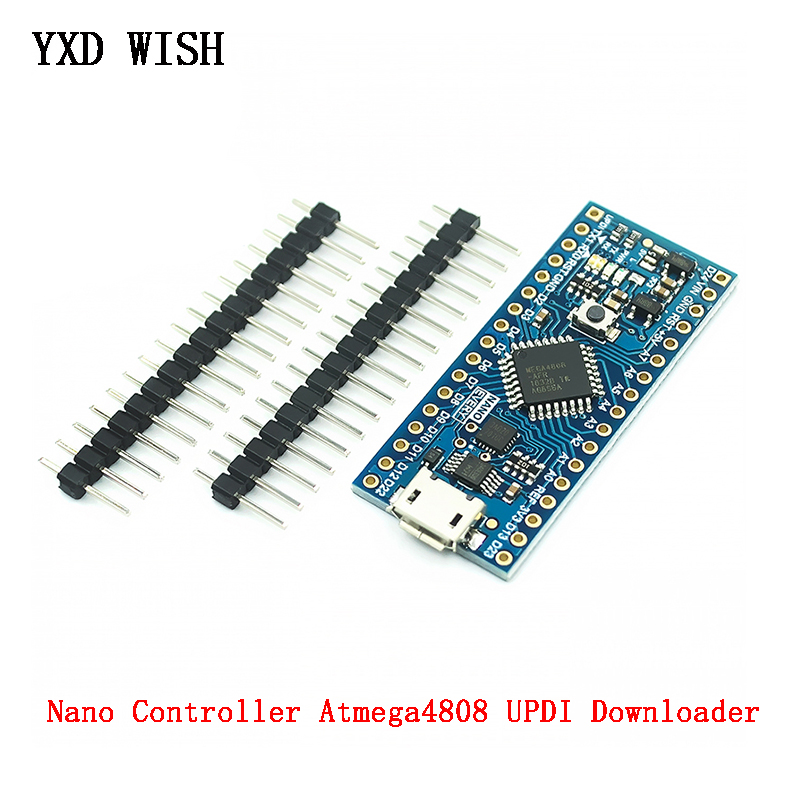Контроллер Nano совместимый с Arduino Nano each Atmega4808, Модернизированная плата контроллера Atmega328 CH340 UPDI