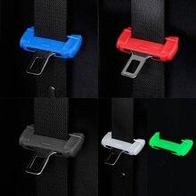 Clip-Button-Case Seat-Belt-Buckle Universal Silicone-Protector-Cover Auto-Accessories