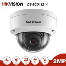 Hikvision DS-2CD1121-I  2MP Mini Dome POE IP Camera Home/Outdoor Security Surveillance Night Vision H.265 ONVIF Support P2P hikvision chinese version ds 2cd3345f d is replace ds 2cd3345 i 4mp h 265 ip dome camera support built in mic onvif poe alarm