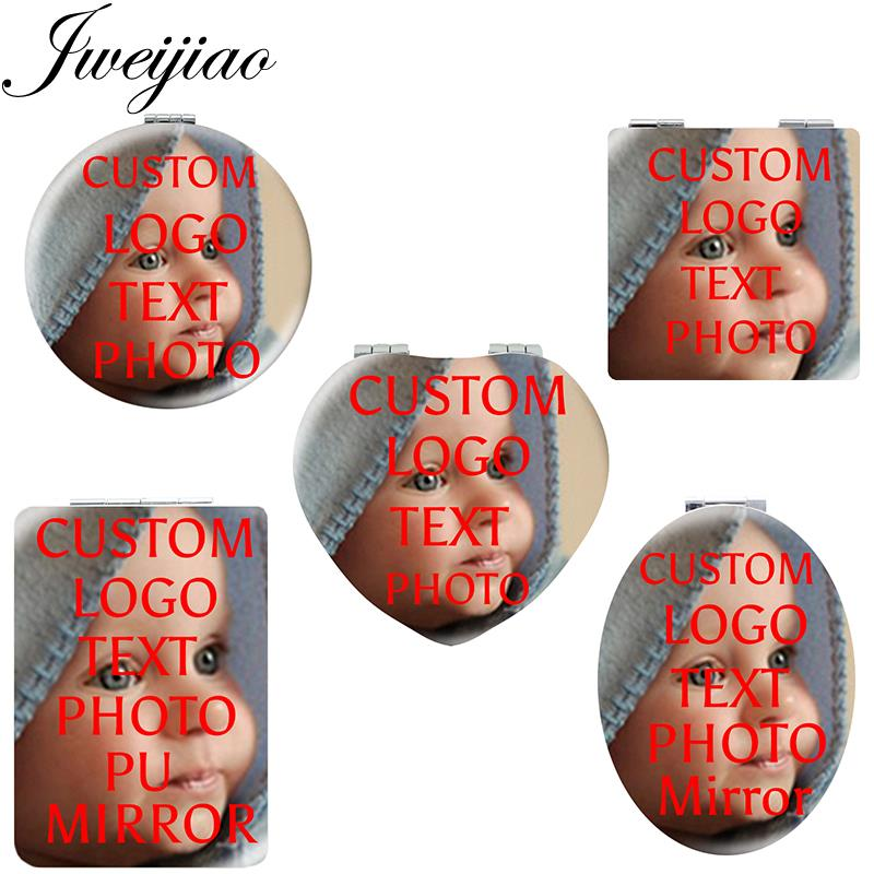 JWEIJIAO Personality Makeup Compact Pocket Mirror Custom Photo Portable Folding Men Women Girls Travel Purse Mirror NA01(China)