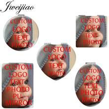 Jweijiao personalidade maquiagem espelho de bolso compacto foto personalizada portátil dobrável das mulheres dos homens meninas bolsa viagem espelho na01