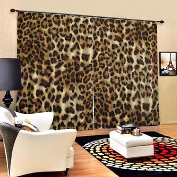 tiger curtains photo Blackout Window Drapes Luxury 3D Curtains For Living room Bed room Office Hotel Home personality curtains