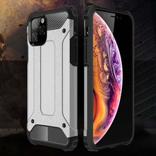 KEYSION Shockproof Armor Case for iPhone 11 Pro Max TPU+PC 2in1 Phone Back Cover 2019 New i11 Cases