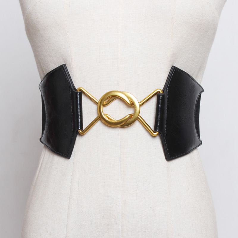 2020 High Fashion Solid Hot Sale Waistband All-match Wide Belt New Design Corset Belt Female Tide Elastic Belts For Women ZL008