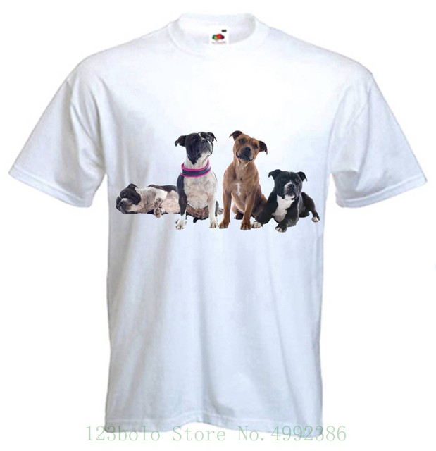 Staffordshire Bull Terriers T Shirt - Staffie Staff Terrier Staffy - S To 3xl New 2019 Fashion Summer