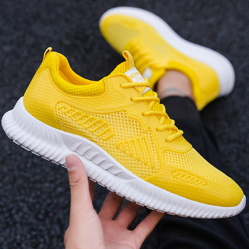 New Mesh Men Casual Shoes Lac-up Lightweight Comfortable Breathable Walking Sneakers Adult