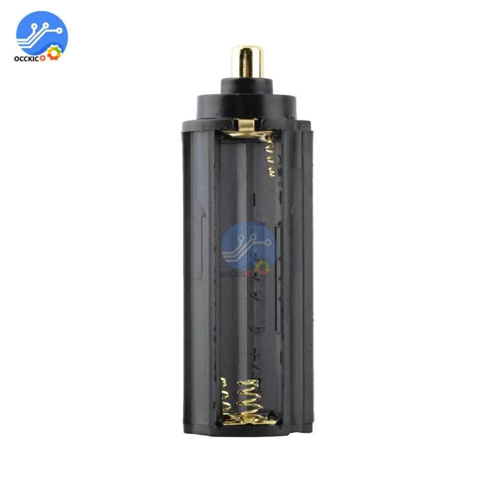 5 pièces/lot 3 AAA batterie noir support métallique en plastique boîtier Type cylindrique pour 18650 lampe torche torche 65mm * 21mm en Stock