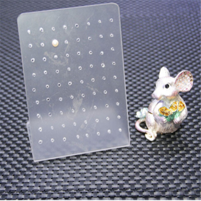 72 Holes Showcase Rack Jewelry Earring Board Holder Ear Studs Display Stand Earrings Display Rack Jewelry Packaging