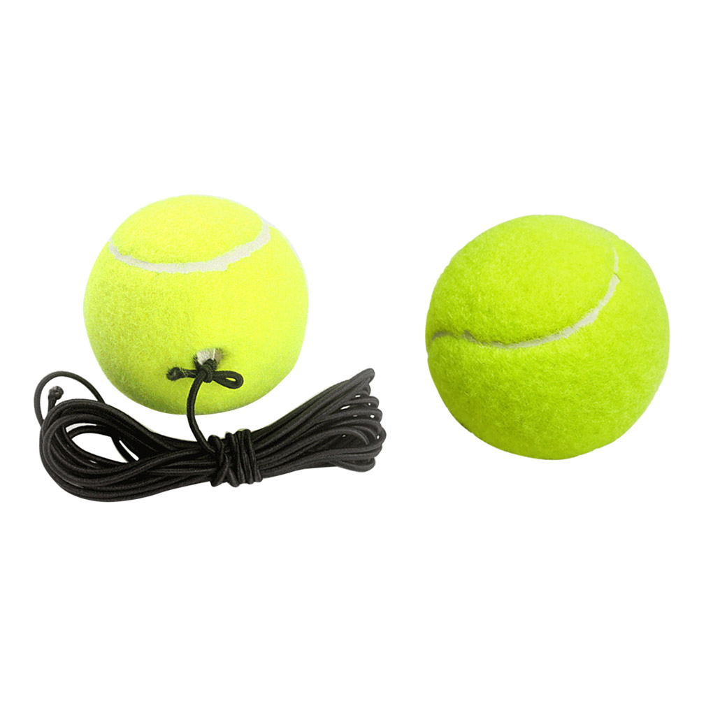 Tennis Balls Rubber Training Practice Ball Elastic Rope Tennis Balls Beginner Single Person Tennis Ball