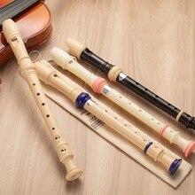 1 pçs ajustável 6/8 buraco agudos flauta longa flauta abs não-tóxico soprano gravador clarinete iniciante flauta instrumentos de sopro