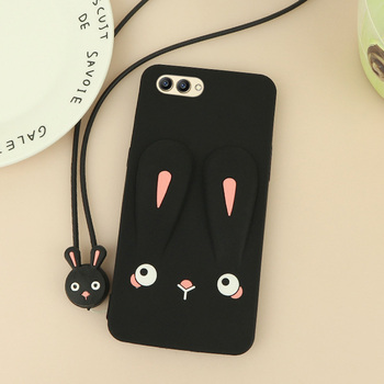 Promotion Case For Huawei Honor View 10 Bumper Rabbit Cases For Huawei Honor V10 360 Hard Holder Cover Soft Matte Coque image