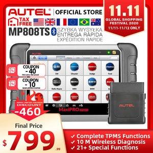 Image 1 - Autel MaxiPRO MP808TS OBDII Car Automotive Diagnostic Tool OBD2 Scanner OBD 2 Code Reader TPMS Functions PK AP200 MK808 MK808TS
