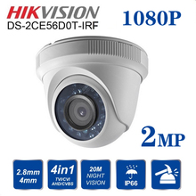 Hikvision DS-2CE56D0T-IRF indoor/outdoor Turbo HD CVBS/AHD/CTV/TVI 1080P 2MP With IR Turret  Video Surveillance Camera