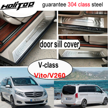 Protect-Door-Sill W447 VITO V-Class Rear-Bumper-Protection Threshold for V260 304-Stainless-Steel
