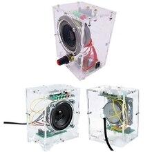 Speaker-Box Sound-Amplifier Music 5W 3W O-3wx2 Diy-Kit Transparent Mini Electronic 2set