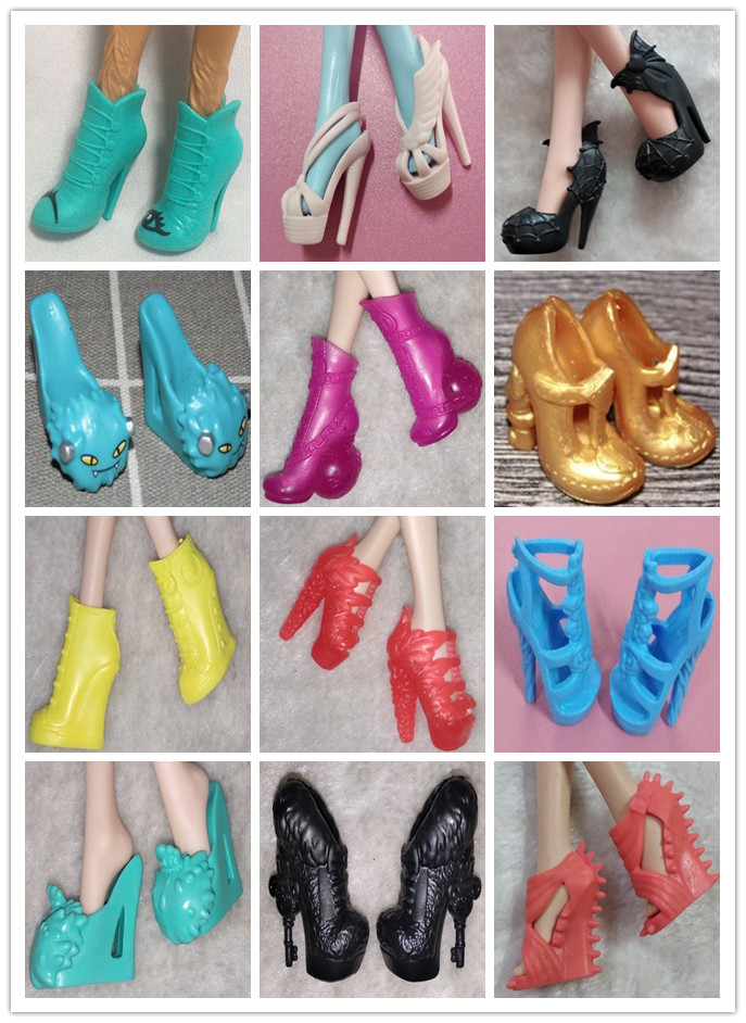 Original Monstering High Doll Shoes High Heels Personality Doll Shoes 1/6 Doll Casual Sandals Shoes Boots Doll Accessories