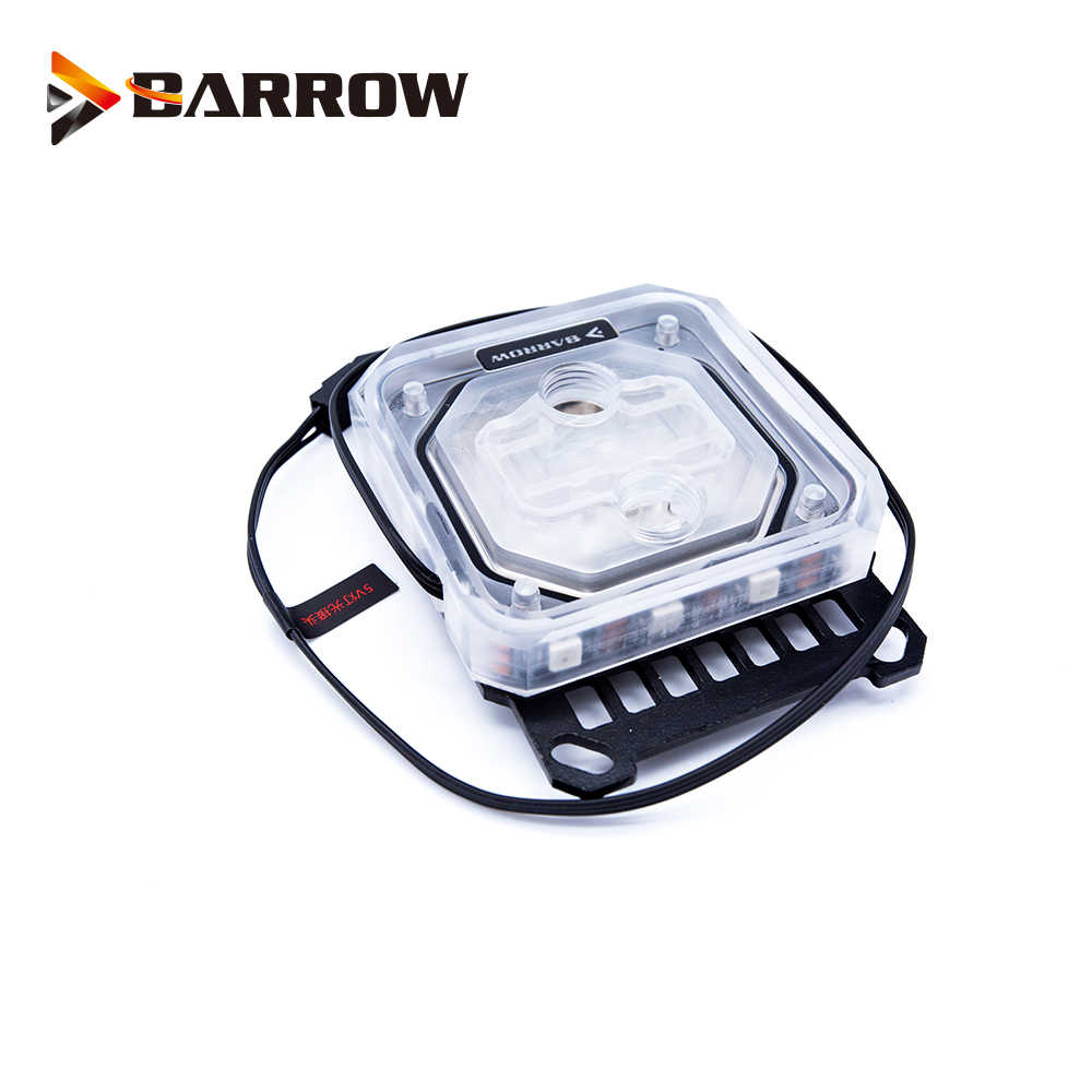 Barrow CPU Water BLOCK ใช้สำหรับ AMD RYZEN AM3 AM3 + AM4/RGB ใช้งานร่วมกับ 5V GND 3PIN ส่วนหัวของเมนบอร์ด/หม้อน้ำทองแดง