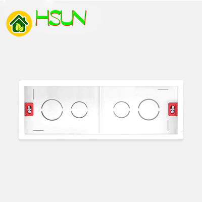118 In Wall Switch Socket Mounting Box 186*67.5*50mm Four Position Cassette Purpose Dark Outfit Embedded Wall Downlight Box
