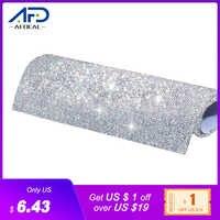 24*40cm Hotfix Glas Strass Mesh Trim Band Kristall Stoff Blatt Strass Applique Banding Für DIY Kleid Schmuck, der