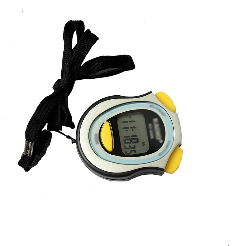 Digital Running Timer Chronograph Stopwatch Counter with Strap Pop