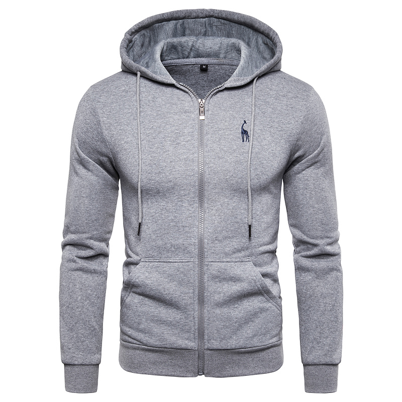 2019 New Autumn Winter Cotton Hoodied Mens Sweatshirts Solid Hoody Fleece Thick Hoodies Men Sportswear Zipper Sweatshirts Men