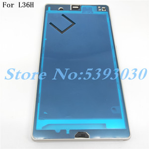 Image 1 - New Original For Sony Xperia Z L36H LT36 C6603 C6602 Front Middle Chassis Housing frame+ plug cover Replacement