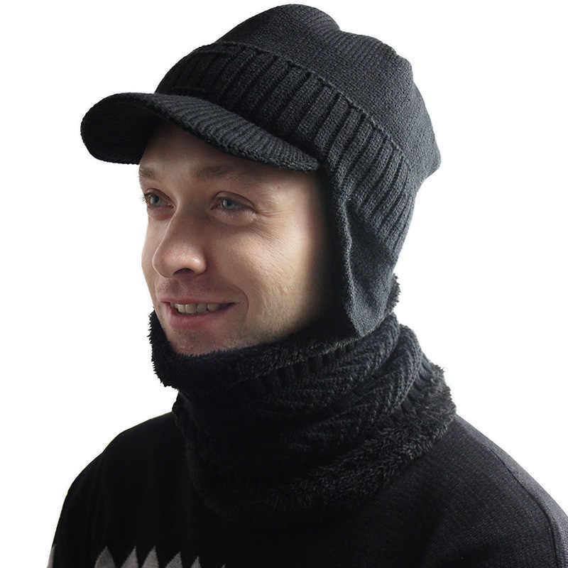 Nieuwe Mannelijke Winter Plus Fluwelen Hoed Muts Mannelijke Dikke Gebreide Hoed Eend Tong Tij Jeugd Capuchon Katoenen Cap
