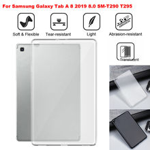 For Samsung Galaxy Tab A 8 2019 8.0 SM-T290 T295 TPU Solf Shock-proof Case Cover / 9H Tempered Glass Screen Protector Guard Film(China)