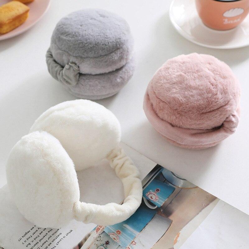 Winter Unisex Foldable Faux Fur Earmuffs Ear Warmers Ear Cover Earlaps Headband Casual Warm Ear Muffs Earflaps Women Girls