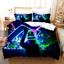 Marshmello 3D Bedding Set Chris Comstock Duvet Covers Pillowcases Comforter Sets Doctom Bedclothes Bed Linen