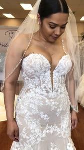 Image 3 - 2020 г., платье для верховой езды, красивое свадебное платье по индивидуальному заказу, свадебные платья, кружевное Тюлевое платье YE002
