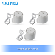 YAJADO Mini Wired Siren Kit for Home Security Alarm System Alarm Speaker Accessories Burglar Alarm 110dB Horn