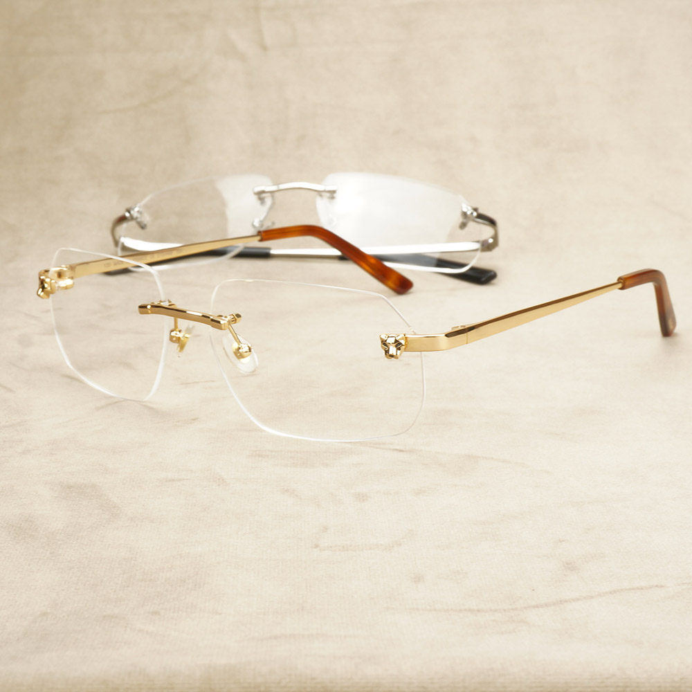 Fashion Panther Clear Glasses Frame For Men Luxury Eyeglasses For Women Vintage Gafas For Ladies Computer Glasses For Carter