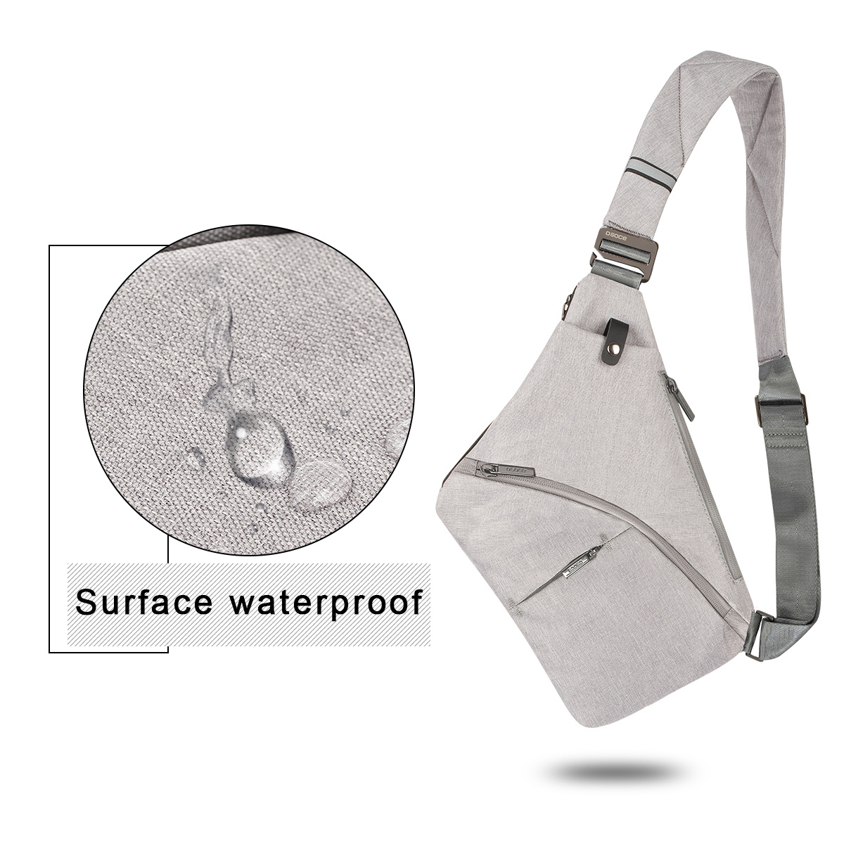 Anti-Theft Crossbody Bag Shoulder Bag Sling Chest bag Waterproof Cover Pack Rucksack Bicycle Sport 9