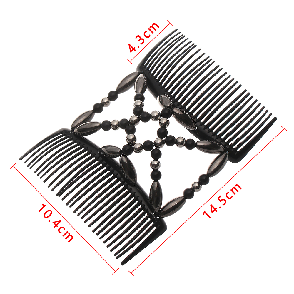 Magic Hair Comb Stretchy Double Hair Clip