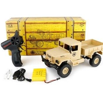 2,4G Drahtlose Fernbedienung Maßstab 116 Military Lkw Vier-rad Stick 4WD RC Rock Crawler Auto mit Scheinwerfer off-road Lkw