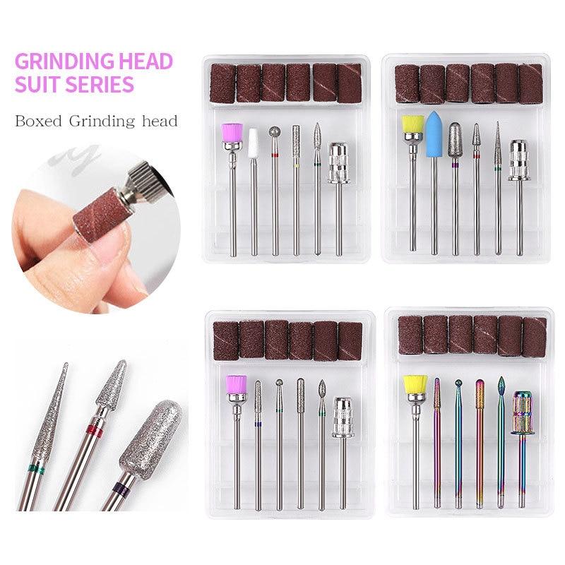 1pcsTungsten Steel Nail Drill Bit For Electric Manicure Drill Machine Milling Cutter Nail Files Buffers Nail Art Equipment Tools