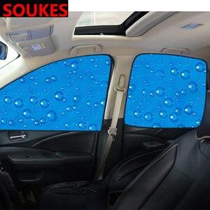 Magnetic Car Window Sunshade Visor Curtain Cover For Audi A3 A4 B8 B6 A6 Mercedes Benz W205 W204 Skoda Octavia A5 A7 2 Abarth(China)