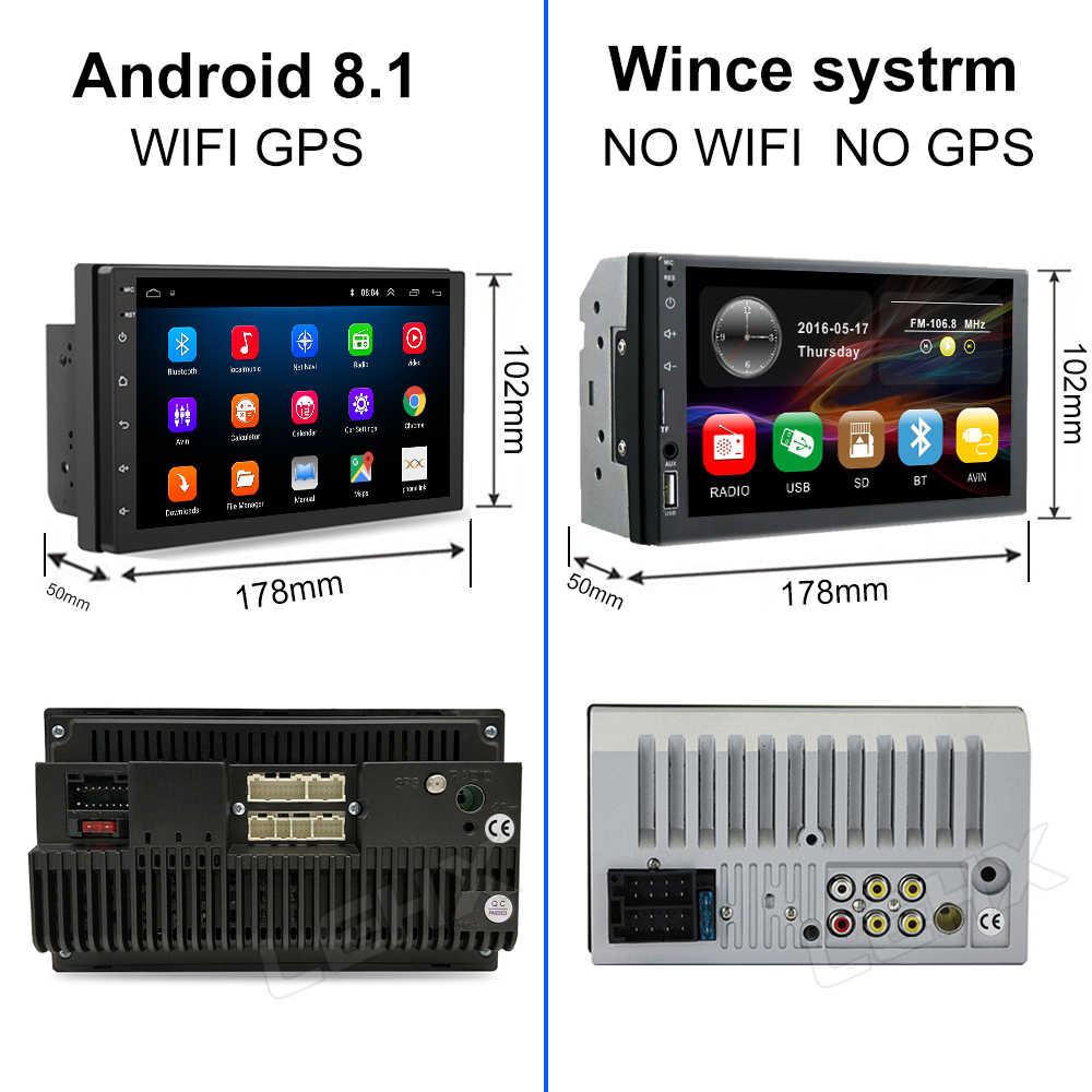 "2 Din 7 ""evrensel Android 9.0 araba multimedya Video oynatıcı 2DIN Stereo araba radyo GPS Volkswagen Nissan Hyundai kia toyota"