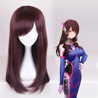 Game OW Cosplay Wigs DVA Women Cosplay Hair Wig Heat Resistant Synthetic Wig Halloween Party