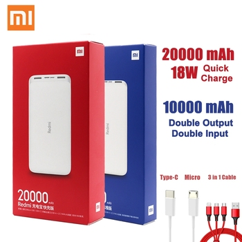 Newest Xiaomi Redmi Original Power Bank 20000mAh 18W Quick Charge 10000mAh Powerbank Fast Charging Portable Charger image