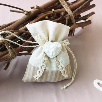 Cotton canvas bag sachets sachet dried flowers bags wholesale wedding supplies candy bags
