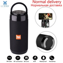 TG113C Bluetooth Speaker Portable Outdoor Loudspeaker Wireless Column With FM Radio Waterproof Subwoofer &Phone Holder 9 Colors
