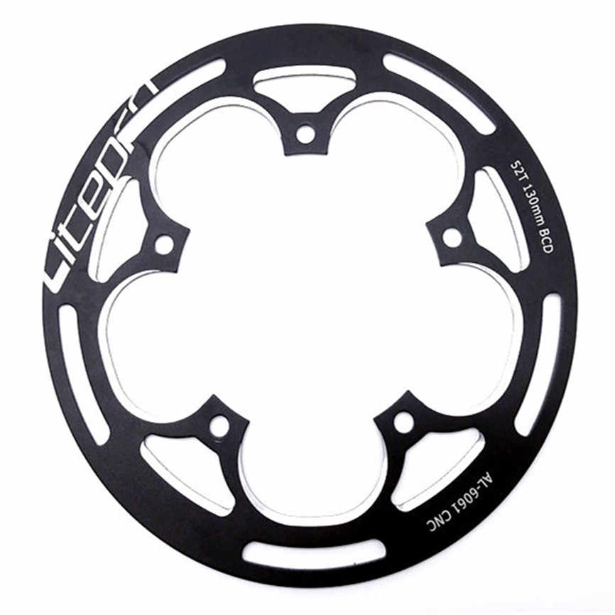 Litepro Folding Bike Chainwheel Protector LP 52/53T Guard Plate Defend Crankset Chainring Protect Full CNC Technology 130BCD